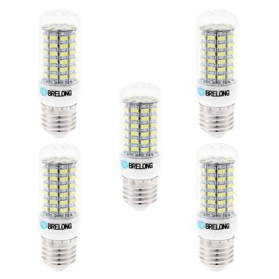 5PCS BRELONG E27 SMD 5730 12W 1200LM LED Corn LampLED Light Bulbs<br>5PCS BRELONG E27 SMD 5730 12W 1200LM LED Corn Lamp<br><br>Brand : BRELONG<br>Base Type: E27, E14, G9<br>Type: Corn Bulbs<br>Output Power: 12W<br>Emitter Types: SMD 5730<br>Total Emitters: 69<br>Luminous Flux: 1200Lm<br>CCT/Wavelength: 6000-6500K, 3000-3500K<br>Voltage (V): AC 220-240<br>Features: Low Power Consumption, Long Life Expectancy<br>Function: Studio and Exhibition Lighting, Commercial Lighting, Home Lighting<br>Available Light Color: Warm White, White<br>Product Weight: 0.175 kg<br>Package Weight: 0.255 kg<br>Product Size (L x W x H): 9.7 x 3 x 3 cm / 3.81 x 1.18 x 1.18 inches<br>Package Size (L x W x H): 10.7 x 9.9 x 6.6 cm / 4.21 x 3.89 x 2.59 inches<br>Package Contents: 5 x BRELONG 12W LED Corn Bulb