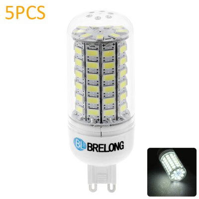 5 x BRELONG G9 69 x SMD 5730 12W 1200LM LED Corn Bulb