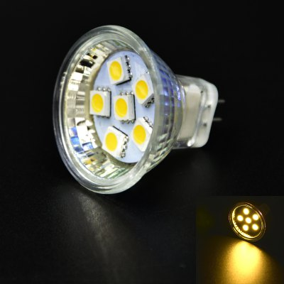 6 x 2W MR11 SMD 5050 100LM LED Spot Light Corn LampLED Light Bulbs<br>6 x 2W MR11 SMD 5050 100LM LED Spot Light Corn Lamp<br><br>Base Type: MR11<br>Type: Spot Bulbs<br>Output Power: 2W<br>Emitter Types: SMD 5050<br>Total Emitters: 6<br>Luminous Flux: 100Lm<br>CCT/Wavelength: 3500K<br>Voltage (V): AC 12<br>Features: Low Power Consumption, Long Life Expectancy<br>Function: Studio and Exhibition Lighting, Commercial Lighting, Home Lighting<br>Available Light Color: Warm White<br>Sheathing Material: Plastic<br>Product Weight: 0.012 kg<br>Package Weight: 0.170 kg<br>Product Size (L x W x H): 3.4 x 3.5 x 3.5 cm / 1.34 x 1.38 x 1.38 inches<br>Package Size (L x W x H): 18 x 15 x 13 cm / 7.07 x 5.90 x 5.11 inches<br>Package Contents: 6 x MR11 LED Spot Light