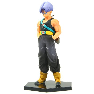 Janpanese Anime Character Dragon Ball Trunks Action Figure Toy with Base