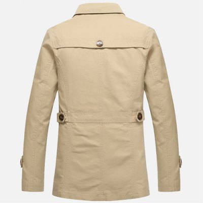 Epaulet Design Turn-Down Collar Single Breasted Long Sleeve Mens Trench CoatMens Jakets &amp; Coats<br>Epaulet Design Turn-Down Collar Single Breasted Long Sleeve Mens Trench Coat<br><br>Clothes Type: Trench<br>Material: Cotton,Polyester<br>Collar: Turn-down Collar<br>Clothing Length: X-Long<br>Style: Fashion<br>Weight: 1.700KG<br>Sleeve Length: Long Sleeves<br>Season: Fall,Winter<br>Package Contents: 1 x Coat