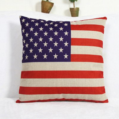 Casual America Flag Pattern Decorative Pillowcase(Without Pillow Inner)