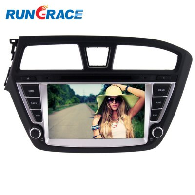 Rungrace RL-501WGNR02 8-inch Car In-Dash DVD PlayerCar DVD Player<br>Rungrace RL-501WGNR02 8-inch Car In-Dash DVD Player<br><br>Brand: Rungrace<br>Type  : 2-DIN<br>Material: Plastic, Metal<br>Installation Site : In-Dash<br>Special Function  : AM/FM Radio, GPS<br>Apply to Car Brand : Hyundai i20<br>Screen Type: Digital touch screen<br>Screen Size : 8inch<br>Screen Resolution : 800 x 480<br>RAM (memory): DDR2 256M<br>DVD Video Format: MP4, MPG<br>USB/SD Video Format: MPG, FLV, MP4, RMVB<br>DVD Audio Format: WMA, MP3<br>USB/SD Audio Format: MP3<br>Picture Format: JPEG<br>USB/SD Picture Format: JPEG<br>Media Format : MPG, WMA, CD, JPEG, DVD-R/RW, RMVB, Video CD, FLV, MP3, MP4<br>GPS Navigation: Support series of GPS software<br>OSD Language: Japanse, Italian, Spanish, Chinese, Hebrew, Turkish, English, etc, French, Arabic, Portuguese, Russian, German<br>Input : DC 12V<br>Product weight   : 2.500 kg<br>Package weight   : 3.6 kg<br>Product size (L x W x H)  : 34 x 21.5 x 10 cm / 13.36 x 8.45 x 3.93 inches<br>Package size (L x W x H)  : 53 x 24.2 x 32.5 cm / 20.83 x 9.51 x 12.77 inches<br>Package Contents: 1 x Rungrace Car DVD Player, 1 x User Manual, 1 x Power Cable, 1 x GPS Antenna, 1 x Remote Control