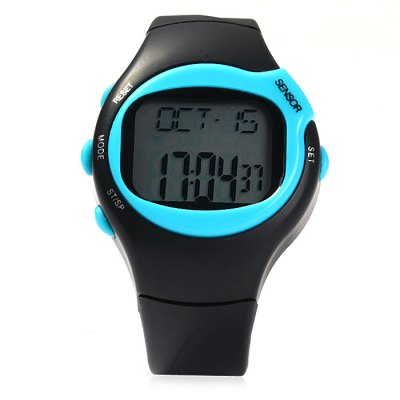 50m Waterproof Infrared Electronic Sports WatchOther Sports Gadgets<br>50m Waterproof Infrared Electronic Sports Watch<br><br>Material: PU<br>Color: Yellow, Purple, Orange, Pink, Blue, Green<br>Gender: Unisex<br>Features: Waterproof, Alarm, Date Display, Universal Time, 1/100s Stopwatch<br>Waterproof Grade: 50m<br>Best Use: Climbing, Camping, Cycling, Hiking, Running, Traveling, Mountaineering<br>Product Weight: 0.042 kg<br>Package Weight: 0.065 kg<br>Product Dimension: 25.2 x 4.6 x 1.5 cm / 9.90 x 1.81 x 0.59 inches<br>Package Dimension: 28.5 x 7 x 2.0 cm / 11.20 x 2.75 x 0.79 inches<br>Package Contents: 1 x Sports Watch ( Built-in 1 x CR2032 Button Battery ), 1 x English User Manual