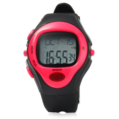 Infrared Electronic Sports Watch Heart Rate MonitoringOther Sports Gadgets<br>Infrared Electronic Sports Watch Heart Rate Monitoring<br><br>Material: Rubber<br>Color: Purple, Orange, Pink, Blue, Yellow, Green<br>Features: Alarm, Date Display, 1/100s Stopwatch<br>Waterproof Grade: 50m<br>Best Use: Climbing, Cycling, Diving, Running, Mountaineering<br>Product Weight: 0.041 kg<br>Package Weight: 0.067 kg<br>Product Dimension: 22 x 4.2 x `1.6 cm / 8.65 x 1.65 x NaN inches<br>Package Dimension: 28 x 7 x 2.2 cm / 11.00 x 2.75 x 0.86 inches<br>Package Contents: 1 x Sports Watch ( Built-in 1 x CR2032 Button Battery ), 1 x English User Manual