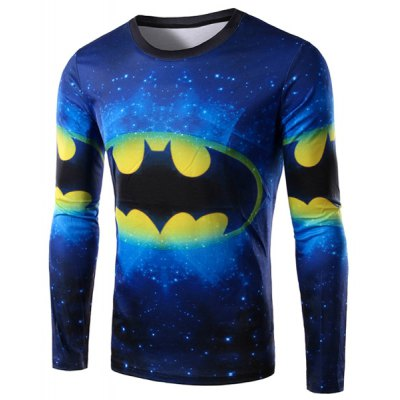 3D Graffiti Long Sleeve T Shirt