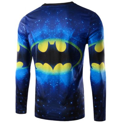 Round Neck 3D Logo Batman Print Long Sleeve Mens T-ShirtMens Long Sleeves Tees<br>Round Neck 3D Logo Batman Print Long Sleeve Mens T-Shirt<br><br>Material: Polyester, Cotton<br>Sleeve Length: Full<br>Collar: Round Neck<br>Style: Fashion<br>Weight: 0.250KG<br>Package Contents: 1 x T-Shirt<br>Pattern Type: Character