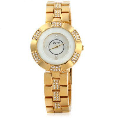 Yagexing 5053 Ladies Diamond Japan Quartz WatchWomens Watches<br>Yagexing 5053 Ladies Diamond Japan Quartz Watch<br><br>Brand: Yagexing<br>Watches categories: Female table<br>Available color: Golden and Black, Golden and White, Gold, Silver and Blue, Silver and Purple<br>Style : Fashion&amp;Casual<br>Movement type: Quartz watch<br>Display type: Analog<br>Case material: Stainless steel<br>Band material: Stainless steel<br>Clasp type: Folding clasp with safety<br>The dial thickness: 1.2 cm / 0.47 inches<br>The dial diameter: 3.5 cm / 1.38 inches<br>The band width: 1.5 cm / 0.59 inches<br>Product weight: 0.083 kg<br>Package weight: 0.133 kg<br>Product size (L x W x H) : 21 x 3.5 x 1.2 cm / 8.25 x 1.38 x 0.47 inches<br>Package size (L x W x H): 22 x 4.5 x 2.2 cm / 8.65 x 1.77 x 0.86 inches<br>Package contents: 1 x Yagexing 5053 Watch