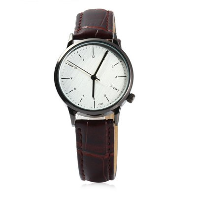 Weesky 1282 Lady Quartz Watch with Leather BandWomens Watches<br>Weesky 1282 Lady Quartz Watch with Leather Band<br><br>Brand: Weesky<br>Watches categories: Female table<br>Available color: Black, Brown<br>Style: Fashion&amp;Casual<br>Movement type: Quartz watch<br>Shape of the dial: Round<br>Display type: Analog<br>Case material: Stainless steel<br>Band material: Leather<br>Clasp type: Pin buckle<br>The dial thickness: 0.6 cm / 0.24 inches<br>The dial diameter: 3.2 cm / 1.26 inches<br>The band width: 1.5 cm / 0.59 inches<br>Wearable length: 16.5 - 20 cm / 6.50 - 7.87 inches<br>Product weight: 0.025 kg<br>Package weight: 0.075 kg<br>Product size (L x W x H) : 24.5 x 3.2 x 0.6 cm / 9.63 x 1.26 x 0.24 inches<br>Package size (L x W x H): 25.5 x 4.2 x 1.6 cm / 10.02 x 1.65 x 0.63 inches<br>Package contents: 1 x Weesky 1282 Watch