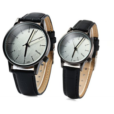 Weesky 1282 Quartz Watch Leather Band Lover Wristwatch