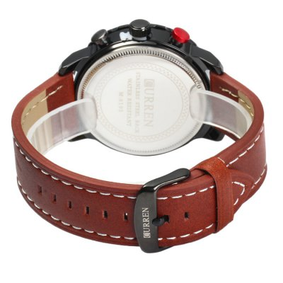Фотография Curren 8193 Date Display Male Quartz Watch with Leather Strap
