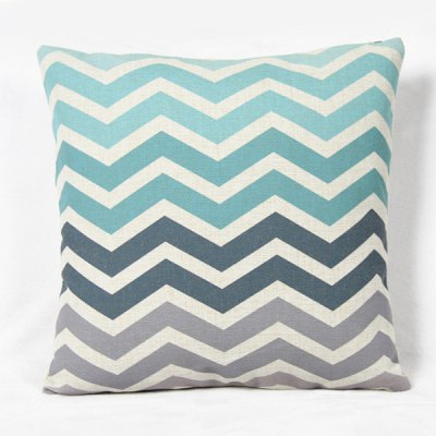 Fashion Square Stripe Pattern Decorative Pillowcase(Without Pillow Inner)