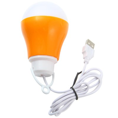 Portable 700Lm 10 x SMD 5730 LED White Light USB Ball Bulb for Mobile Power Bank Computer Cellphone Outdoor Activity