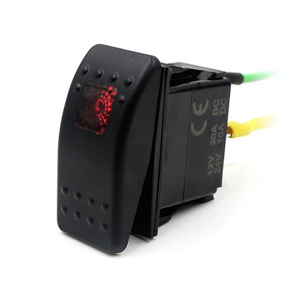 Car Boat Bar Carling Rocker Switch 3 Pin with LED Light 12V 20A