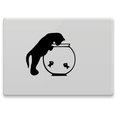 Hat-Prince Decorative Skin Sticker for MacBook 11.6 / 12 / 13.3 / 15.4 inch Removable with Cat Design