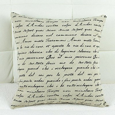 Fashion Letter Pattern Square Pillowcase(Without Pillow Inner)
