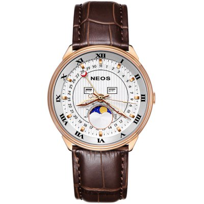 NEOS N40668M Men Japan Quartz Watch - NEOSMens Watches<br>NEOS N40668M Men Japan Quartz Watch<br><br>Brand: NEOS<br>Watches categories: Male table<br>Watch style: Fashion<br>Watch color: Silver and Black, Silver and White, Silver and Brown, Black, Gold and Black, Gold and Brown, Rose Gold and Brown<br>Movement type: Quartz watch<br>Shape of the dial: Round<br>Surface material: Sapphire<br>Display type: Analog<br>Case material: Stainless steel<br>Band material: Genuine leather<br>Clasp type: Pin buckle<br>Special features: Date, Month, Day, Phases of the moon<br>Water resistance: 30 meters<br>The dial thickness: 0.8 cm / 0.31 inches<br>The dial diameter: 4.1 cm / 1.61 inches<br>Product weight: 0.080 kg<br>Package weight: 0.210 kg<br>Product size (L x W x H): 24 x 4.1 x 0.8 cm / 9.43 x 1.61 x 0.31 inches<br>Package size (L x W x H): 12 x 10 x 8 cm / 4.72 x 3.93 x 3.14 inches<br>Package contents: 1 x NEOS N40668M Watch