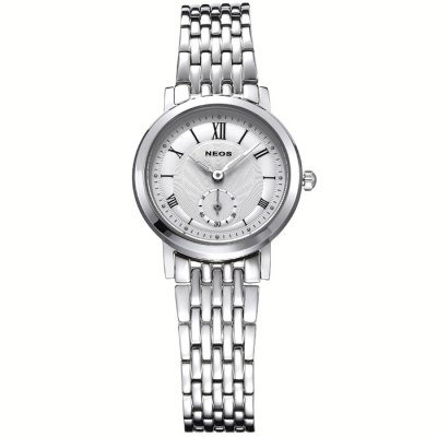 NEOS N40675N Sapphire Mirror Female Japan Quartz WatchWomens Watches<br>NEOS N40675N Sapphire Mirror Female Japan Quartz Watch<br><br>Brand: NEOS<br>Watches categories: Female table<br>Available color: Silver, Silver and Black, White, Black, Brown, Gold and Black, Gold and White<br>Style : Fashion&amp;Casual<br>Movement type: Quartz watch<br>Shape of the dial: Round<br>Surface material: Sapphire<br>Display type: Analog<br>Case material: Stainless steel<br>Band material: Stainless steel<br>Clasp type: Butterfly clasp<br>Water resistance : 30 meters<br>The dial thickness: 0.7 cm / 0.28 inches<br>The dial diameter: 3.2 cm / 1.26 inches<br>Product weight: 0.090 kg<br>Package weight: 0.180 kg<br>Product size (L x W x H) : 18 x 3.2 x 0.7 cm / 7.07 x 1.26 x 0.28 inches<br>Package size (L x W x H): 12 x 10 x 8 cm / 4.72 x 3.93 x 3.14 inches<br>Package contents: 1 x NEOS N40675N Watch