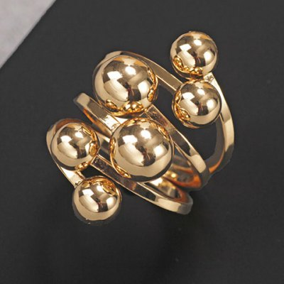 Chic Solid Color Beads Layered Ring For Women