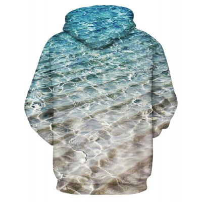 Cool 3D Water Wave Print Front Pocket Drawstring Hooded Long Sleeves Mens Loose Fit Ombre HoodieMens Hoodies &amp; Sweatshirts<br>Cool 3D Water Wave Print Front Pocket Drawstring Hooded Long Sleeves Mens Loose Fit Ombre Hoodie<br><br>Material: Cotton,Spandex<br>Clothing Length: Regular<br>Sleeve Length: Full<br>Style: Fashion<br>Weight: 0.444KG<br>Package Contents: 1 x Hoodie