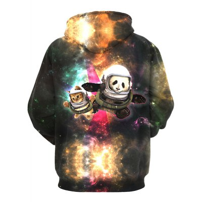 3D Colorful Funny Space Cat Print Front Pocket Drawstring Hooded Long Sleeves Mens Loose Fit HoodieMens Hoodies &amp; Sweatshirts<br>3D Colorful Funny Space Cat Print Front Pocket Drawstring Hooded Long Sleeves Mens Loose Fit Hoodie<br><br>Material: Cotton,Spandex<br>Clothing Length: Regular<br>Sleeve Length: Full<br>Style: Fashion<br>Weight: 0.410KG<br>Package Contents: 1 x Hoodie