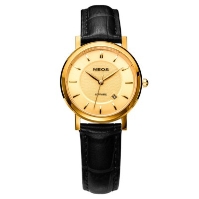 NEOS N40676N Female Sapphire Japan Quartz WatchWomens Watches<br>NEOS N40676N Female Sapphire Japan Quartz Watch<br><br>Brand: NEOS<br>Watches categories: Female table<br>Available color: Silver, Golden and Black, Golden and White, Golden, White and Golden and Brown, Silver and Black, Golden and Brown, Golden and Black and White, Black, White, Brown<br>Style : Fashion&amp;Casual<br>Movement type: Quartz watch<br>Shape of the dial: Round<br>Surface material: Sapphire<br>Display type: Analog<br>Case material: Stainless steel<br>Band material: Genuine leather<br>Clasp type: Pin buckle<br>Water resistance : 30 meters<br>Special features: Date<br>The dial thickness: 0.6 cm / 0.24 inches<br>The dial diameter: 2.8 cm / 1.1 inches<br>Product weight: 0.080 kg<br>Package weight: 0.210 kg<br>Product size (L x W x H) : 22 x 2.8 x 0.6 cm / 8.65 x 1.10 x 0.24 inches<br>Package size (L x W x H): 12 x 10 x 8 cm / 4.72 x 3.93 x 3.14 inches<br>Package contents: 1 x NEOS N40676N Watch