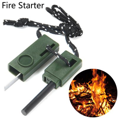 Outdoor Survival Fire Starter with Ruler