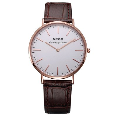 Гаджет   NEOS 40687M Genuine Leather Band Men Japan Quartz Watch Men
