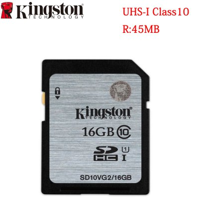 Original Kingston 16GB Class 10 SDHC Flash Memory Card