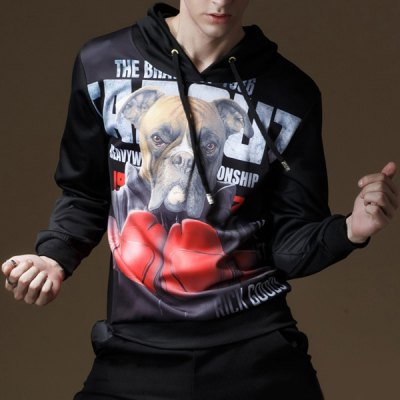 Loose-Fitting Hooded 3D Dog Boxer Print Long Sleeve Mens HoodieMens Hoodies &amp; Sweatshirts<br>Loose-Fitting Hooded 3D Dog Boxer Print Long Sleeve Mens Hoodie<br><br>Material: Cotton, Polyester, Faux Leather<br>Clothing Length: Regular<br>Sleeve Length: Full<br>Style: Fashion<br>Weight: 0.560KG<br>Package Contents: 1 x Hoodie