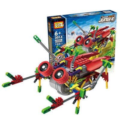 122Pcs LOZ 3014 Cicada Building Block Educational Toy for Spatial Thinking