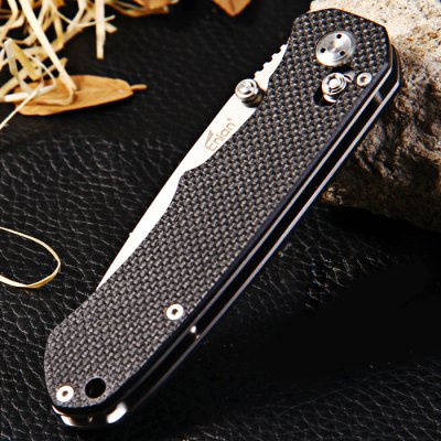 Enlan EL02B Axis Lock Folding KnifePocket Knives and Folding Knives<br>Enlan EL02B Axis Lock Folding Knife<br><br>Brand: Enlan<br>Model Number: EL02B<br>Lock Type: Axis Lock<br>Blade Edge Type: Fine<br>For: Mountaineering, Camping, Travel, Home use, Adventure, Collecting, Hiking<br>Color: Stone Wash, Sanding<br>Blade Material: 8Cr13MoV Stainless Steel<br>Handle Material: G10 Steel Handle<br>Fold Length: 12.0 cm<br>Unfold Length: 21.0 cm<br>Clip Length: 5.5 cm<br>Blade Length: 9.0 cm<br>Blade Width : 2.8 cm<br>Product weight   : 0.137 kg<br>Package weight   : 0.190 kg<br>Product size (L x W x H)   : 12.0 x 3.3 x 1.9 cm / 4.72 x 1.30 x 0.75 inches<br>Package size (L x W x H)  : 14.5 x 5.5 x 3.0 cm / 5.70 x 2.16 x 1.18 inches<br>Package contents: 1 x Enlan EL02B Folding Knife