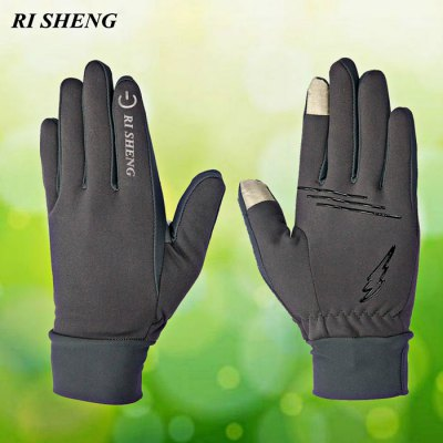 RI SHENG Touch Screen Riding Full-finger Gloves