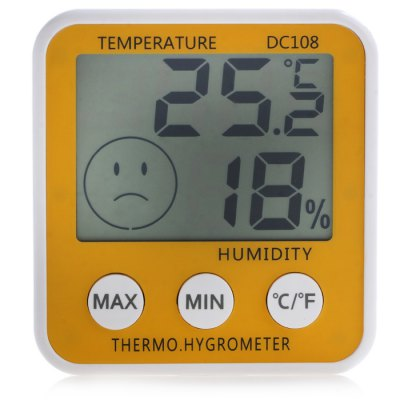 DC108 LCD Digital Thermometer + Hygrometer