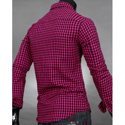 Simple Shirt Collar Color Block Plaid Print Long Sleeves Mens Slimming ShirtMens Shirts<br>Simple Shirt Collar Color Block Plaid Print Long Sleeves Mens Slimming Shirt<br><br>Shirts Type: Casual Shirts<br>Material: Cotton Blends<br>Sleeve Length: Full<br>Collar: Turn-down Collar<br>Weight: 0.227KG<br>Package Contents: 1 x Shirt