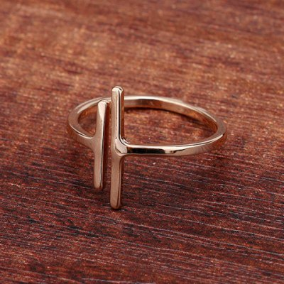 Simple Style Solid Color Asymmetric Cuff Ring For Women