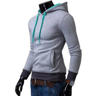 Casual Drawstring Hooded Color Block Front Pocket Slimming Mens Long Sleeves HoodieMens Hoodies &amp; Sweatshirts<br>Casual Drawstring Hooded Color Block Front Pocket Slimming Mens Long Sleeves Hoodie<br><br>Material: Cotton Blends<br>Clothing Length: Regular<br>Sleeve Length: Full<br>Style: Casual<br>Weight: 0.470KG<br>Package Contents: 1 x Hoodie