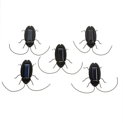 5Pcs Solar Powered Cockroach Bug Novelty Vibrating Toy for Children