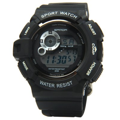 Sanda 302 LED Sports Watch