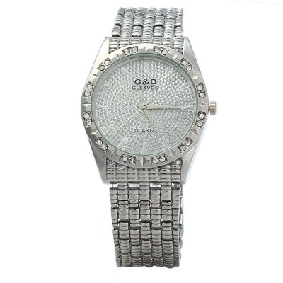 ФОТО GND Male Diamond Quartz Watch with Stainless Steel Band