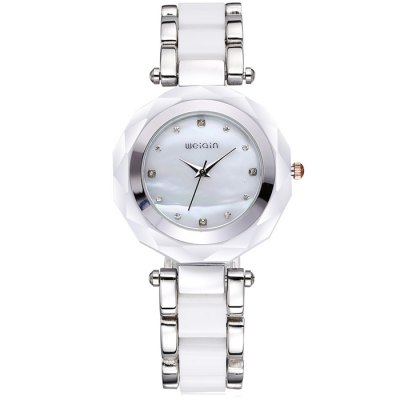 Weiqin 2704 Rhinestone Female Japan Quartz Chain WatchWomens Watches<br>Weiqin 2704 Rhinestone Female Japan Quartz Chain Watch<br><br>Brand: Weiqin<br>Watches categories: Female table<br>Available color: Black, White, Golden and White, Rose Gold<br>Style : Fashion&amp;Casual, Bracelet<br>Movement type: Quartz watch<br>Shape of the dial: Round<br>Surface material: Mineral Reinforced Glass<br>Display type: Analog<br>Case material: Alloy + plastic<br>Band material: Plastic and steel<br>Clasp type: Sheet folding clasp<br>Water resistance : Life water resistant<br>The dial thickness: 1.1 cm / 0.43 inches<br>The dial diameter: 3.7 cm / 1.45 inches<br>The band width: 1.8 cm / 0.71 inches<br>Product weight: 0.104 kg<br>Package weight: 0.154 kg<br>Product size (L x W x H) : 24.5 x 3.7 x 1.1 cm / 9.63 x 1.45 x 0.43 inches<br>Package size (L x W x H): 25.5 x 4.7 x 2.1 cm / 10.02 x 1.85 x 0.83 inches<br>Package contents: 1 x Weiqin 2704 Watch