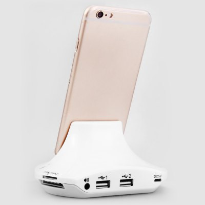 3-in-1 8 Pin Charger Dock / USB 2.0 HUB / Card Reader ComboiPhone Cables &amp; Adapters<br>3-in-1 8 Pin Charger Dock / USB 2.0 HUB / Card Reader Combo<br><br>Compatibility: iPhone 5S, iPhone 6S Plus, iPhone 6, iPhone 5, iPad Air (iPad 5), iPad Mini, iPhone 6 Plus, iPhone 5C, iPhone 6S<br>Type: Base Dock Charger<br>Input: 5V 1A<br>Output: 5V 1A<br>Product weight : 0.091 kg<br>Package weight : 0.185 kg<br>Product size (L x W x H) : 12 x 8.2 x 5.5 cm / 4.72 x 3.22 x 2.16 inches<br>Package size (L x W x H) : 12.5 x 8.5 x 10 cm / 4.91 x 3.34 x 3.93 inches<br>Package Contents: 1 x Multifunctional Charger Dock USB 2.0 HUB Card Reader Combo, 1 x Micro USB Cable