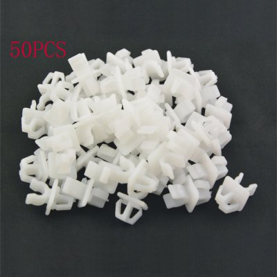 50pcs Car Plastic Rivets Door Fastener