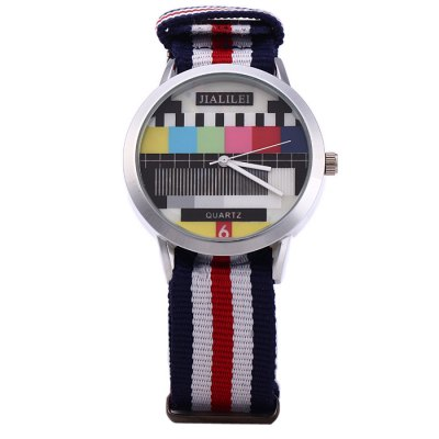JIALILEI 58893 Canvas Band Male Quartz WatchMens Watches<br>JIALILEI 58893 Canvas Band Male Quartz Watch<br><br>Brand: Jialilei<br>Watches categories: Male table<br>Watch style: Fashion<br>Watch color: Red, Blue + White + Red, Army Green, Green, White<br>Movement type: Quartz watch<br>Shape of the dial: Round<br>Display type: Analog<br>Case material: Stainless steel<br>Band material: Canvas<br>Clasp type: Pin buckle<br>The dial thickness: 1.0 cm / 0.39 inches<br>The dial diameter: 3.8 cm / 1.49 incdes<br>The band width: 2.0 cm / 0.79 inches<br>Wearable length: 14 - 21.5 cm / 5.51 - 8.46 inches<br>Product weight: 0.035 kg<br>Package weight: 0.085 kg<br>Product size (L x W x H): 26 x 3.8 x 1 cm / 10.22 x 1.49 x 0.39 inches<br>Package size (L x W x H): 27 x 4.8 x 2 cm / 10.61 x 1.89 x 0.79 inches<br>Package contents: 1 x JIALILEI 58893 Watch