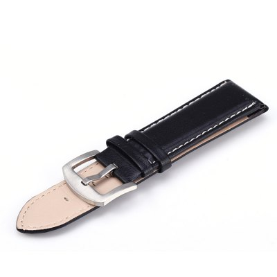 Pin Buckle 24mm Leather Strap