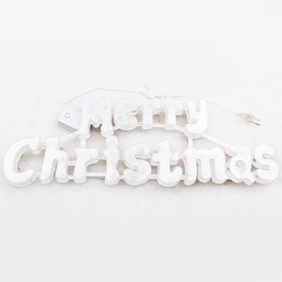 Merry Christmas LED Sign Glowing Letters Xmas Tree DecorationLED Strips<br>Merry Christmas LED Sign Glowing Letters Xmas Tree Decoration<br><br>Type: Festival Light<br>Connector Type: EU Plug<br>Light Color: Colorful, Green, Yellow<br>CCT/Wavelength: 520-530nm, 589-592nm<br>Voltage (V): AC220<br>Output Power(W): 3W<br>Actual Lumen(s): 250Lm<br>Number of LEDs: 50<br>Material: Plastic<br>Product weight: 0.300 kg<br>Package weight: 0.370 kg<br>Product size (L x W x H): 50 x 17.5 x 10 cm / 19.65 x 6.88 x 3.93 inches<br>Package size (L x W x H): 55 x 27 x 11 cm / 21.62 x 10.61 x 4.32 inches<br>Package Contents: 1 x LED Light