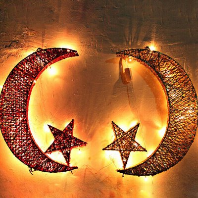 Moon and Star LED Hanging Light
