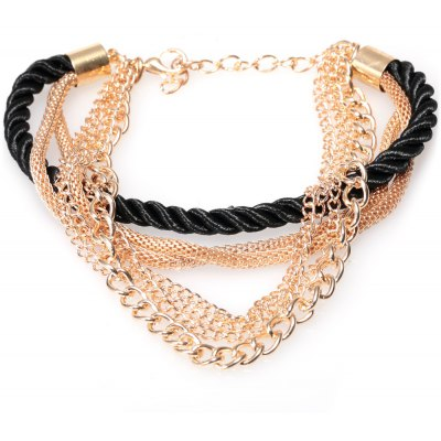 Electroplate Multilayer Hand Woven Bracelet for Women