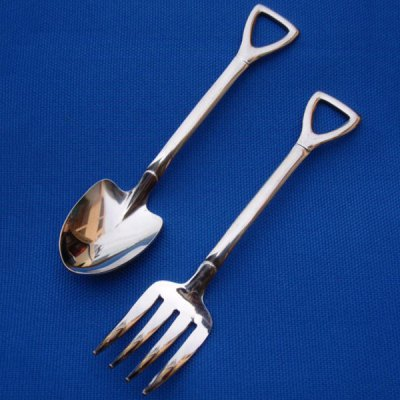 2PCS Stainless Steel Tableware Set(Fork and Spoon)