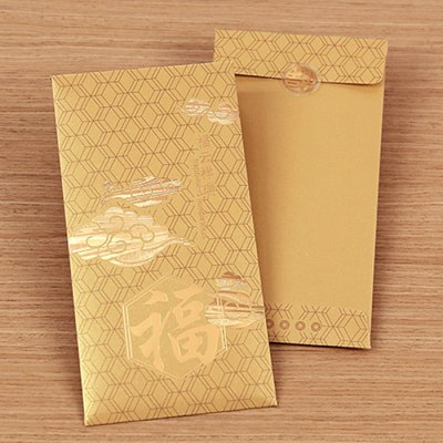 6 x CHENPINTANG Auspicious Pattern with Fu Charactor Wedding Spring Festival Red Envelope 90 x 170mm
